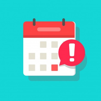 calendar deadline event reminder notification icon flat cartoon 101884 757